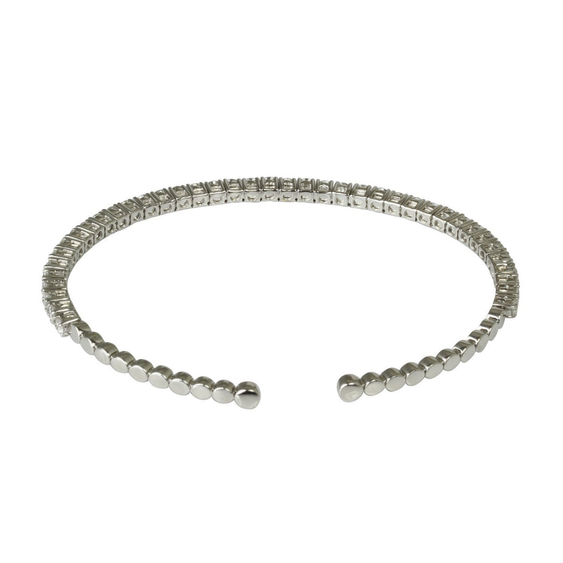18k Gold Delicate Diamond Flex Bangle Bracelet