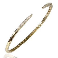 14k Gold Diamond End Point Flex Bracelet