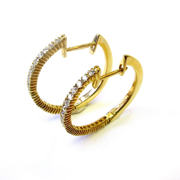14k Gold 0.45ct Diamond Hoop Earrings