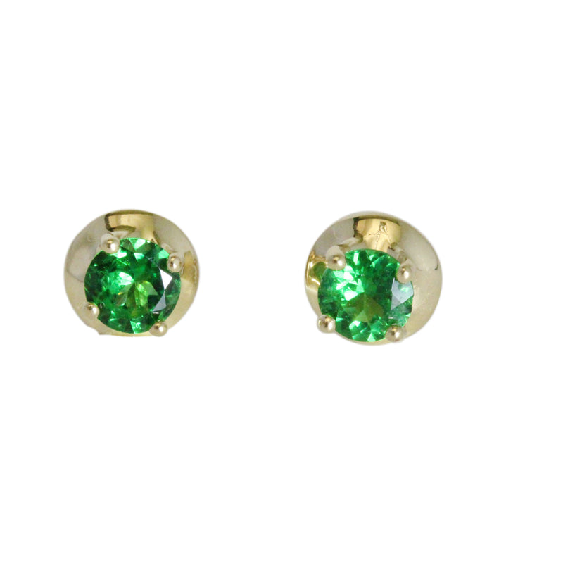 14k Gold Tsavorite Stud Earrings