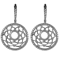 14k Gold Diamond Web Earrings
