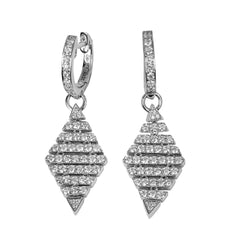 14k Gold Diamond Dangle Earrings