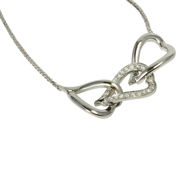 14k Diamond Trio Heart Necklace