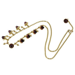 14k Gold Rhodolite Bullet Necklace