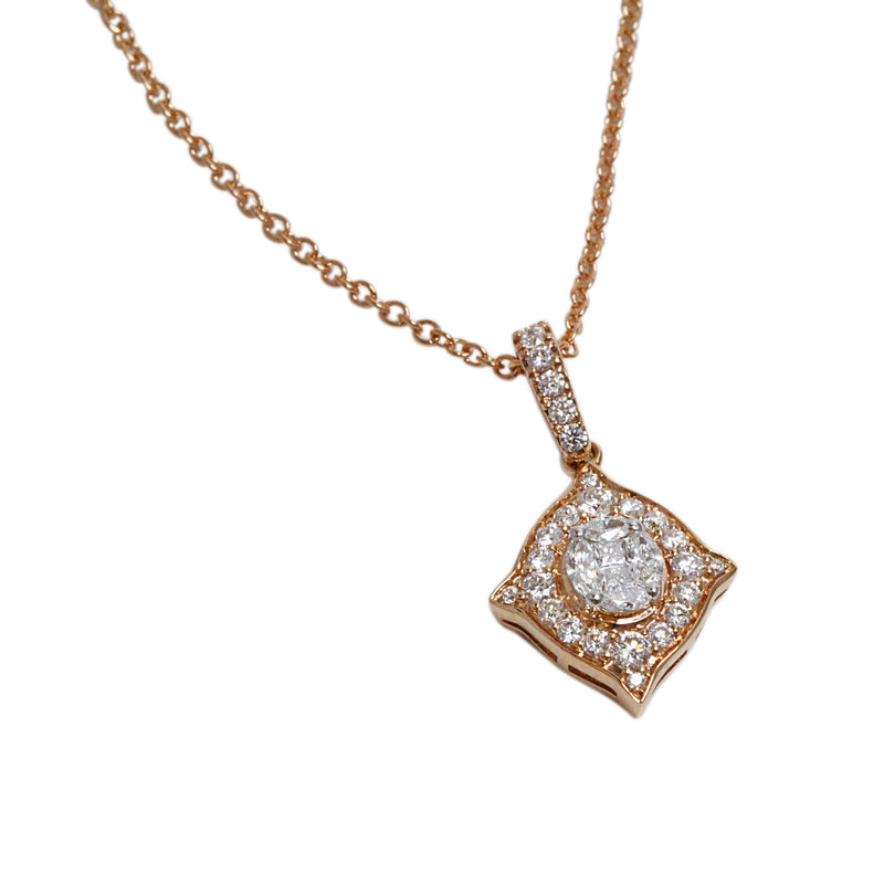 18k Gold & Diamond Moorish Pendant Necklace