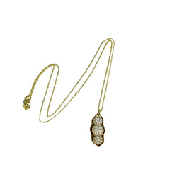 14k Gold Peapod Diamond Pendant Necklace
