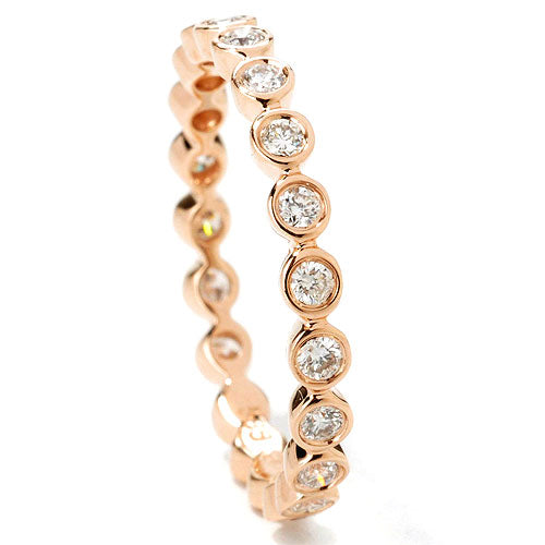 14k Gold Diamond Thin Stackable Ring
