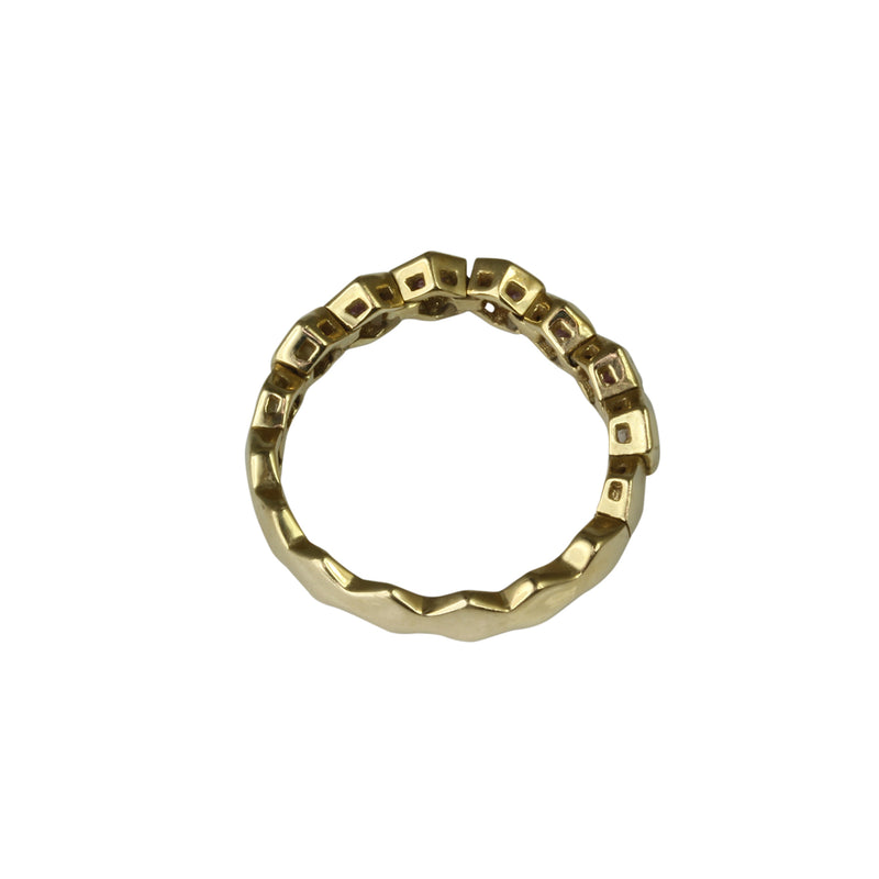14k Gold Flex Piink Sapphire Stackable Ring