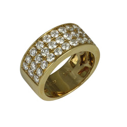 14k Gold Diamond Trio Row Half Eternity Ring
