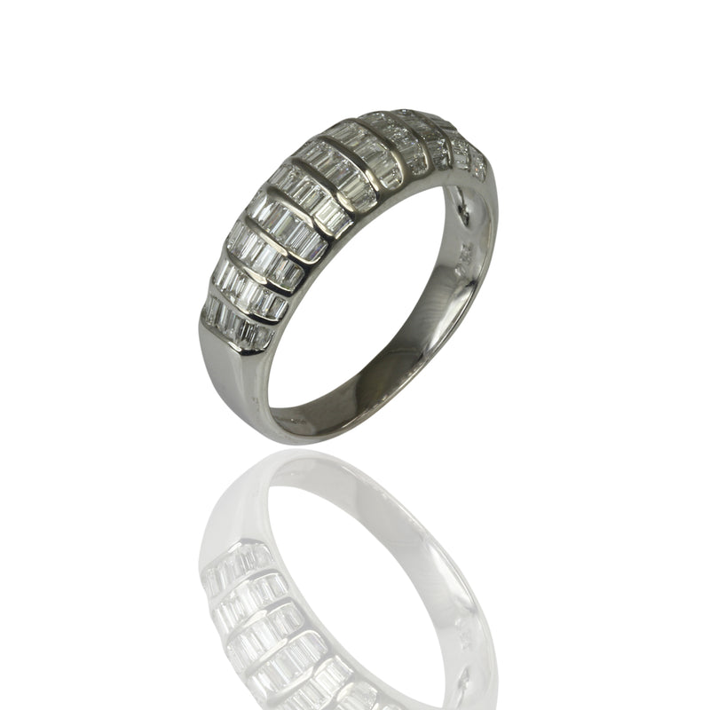 18k Gold Vs Baguette Diamond Channel Set Ring