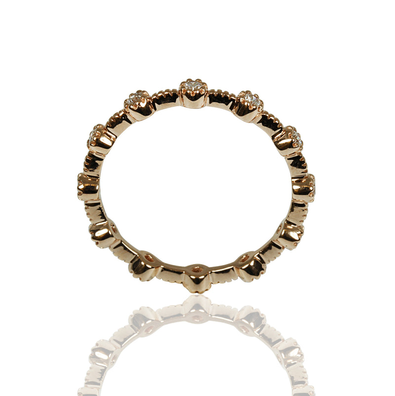 14k Gold Diamond Stackable Ring