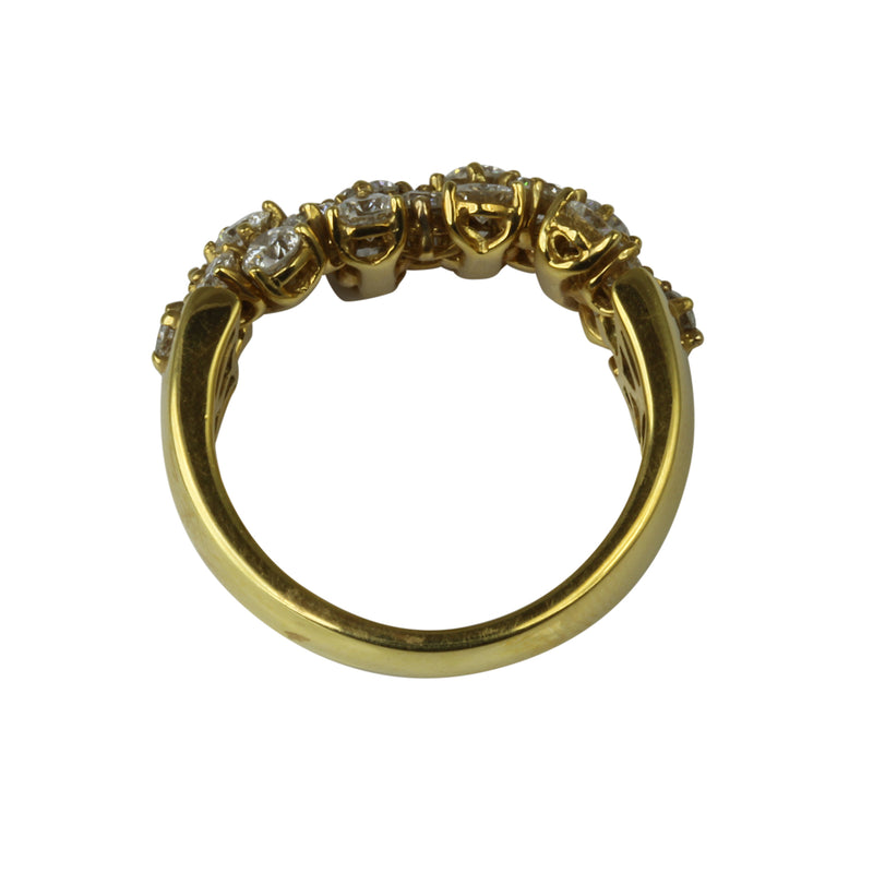 18k Gold Bubble Diamond Flex Ring
