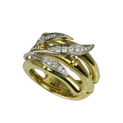 14k Gold Bamboo Leaf Ring