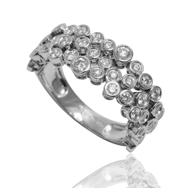 14k Gold Diamond Bubble Flex Ring
