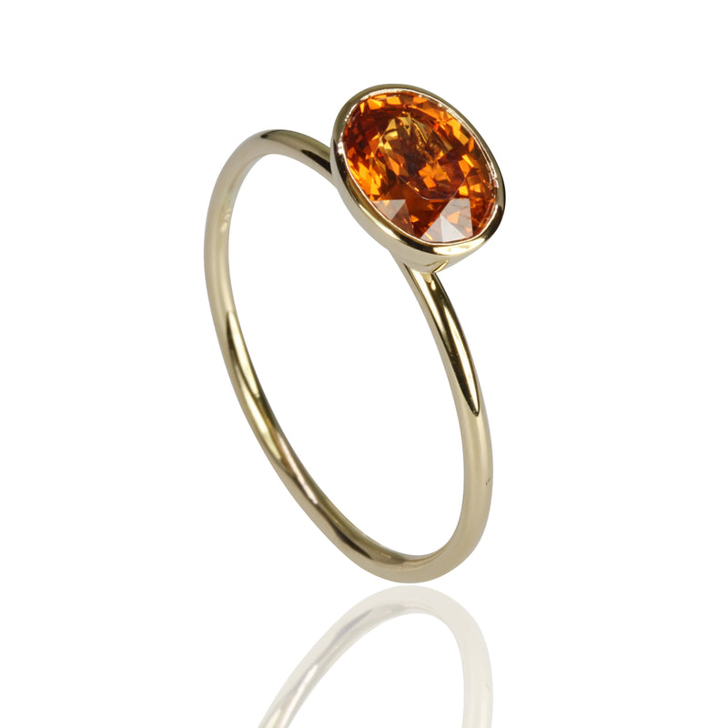 14k Gold Spessartite Ring