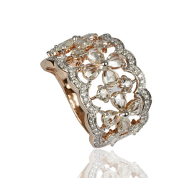14k Gold Rose Cut Diamond Ring