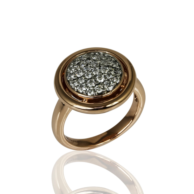 14k Gold Diamond Circle Ring