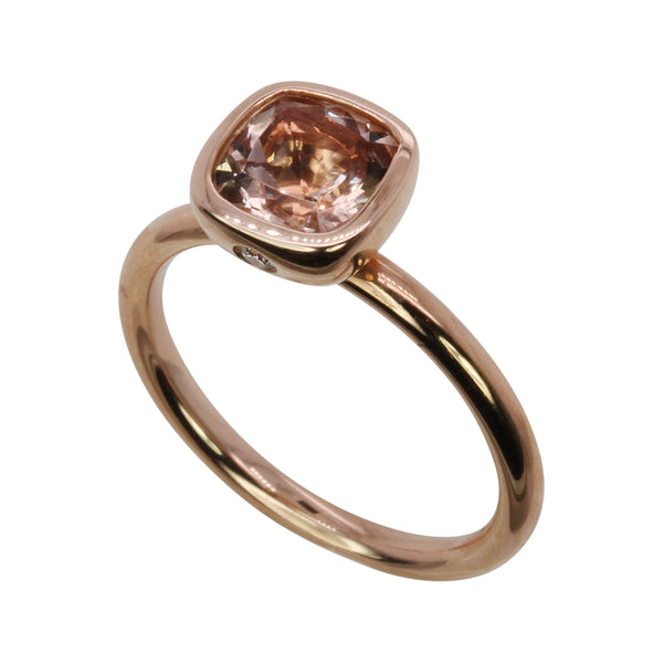14k Gold Morganite Classic Stack Ring