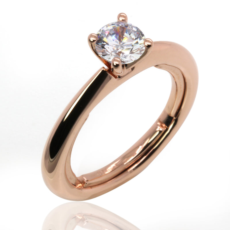 14k Gold Classic Everfit Engagement Ring