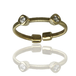 14k Gold Double Cushion Flex Stack Ring