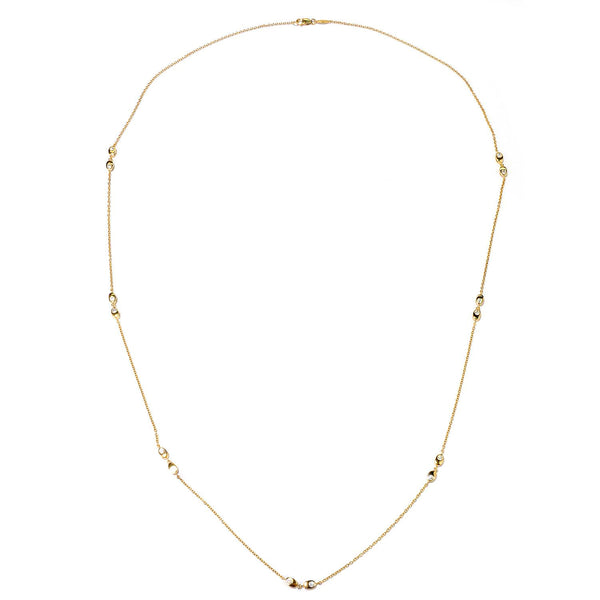Plated SS & Cz Oval Station Necklace