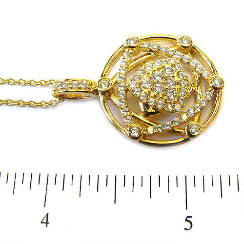 SS & CZ Star of David Pendant Necklace