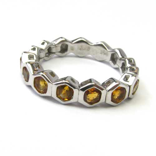 SS Citrine Stackable Flex Ring