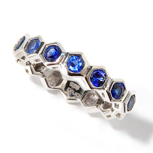 Plated SS Blue Cz Stackable Ring