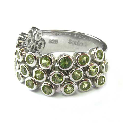 Plated SS Flex Peridot Ring