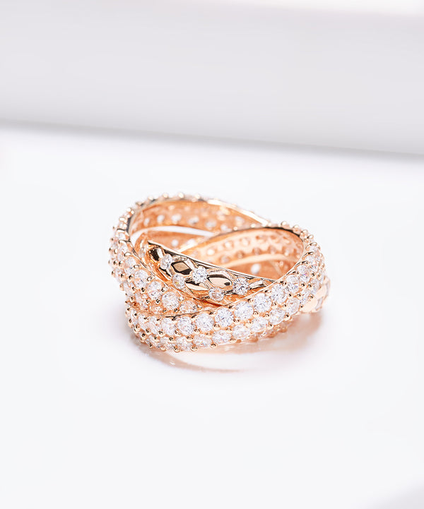 Plated SS & Cz Rolling Ring
