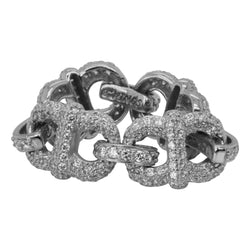 SS & CZz Flex Chain Ring