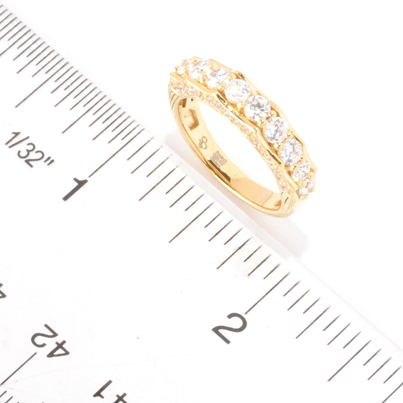 SS & CZ Scalloped Ring
