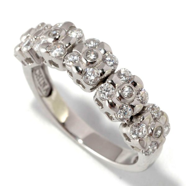 Plated SS & Cz Dream Fit Ring
