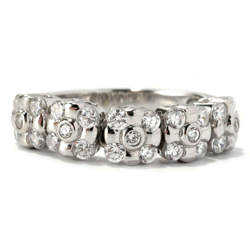 Platinum Plated SS & Cz Dream Fit Ring
