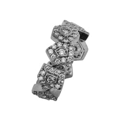SS & Cz Dream Fit Abstract Ring