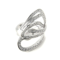 Platinum Plated SS White Zircon Ring