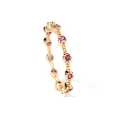 18k Gold Ruby Stackable Ring