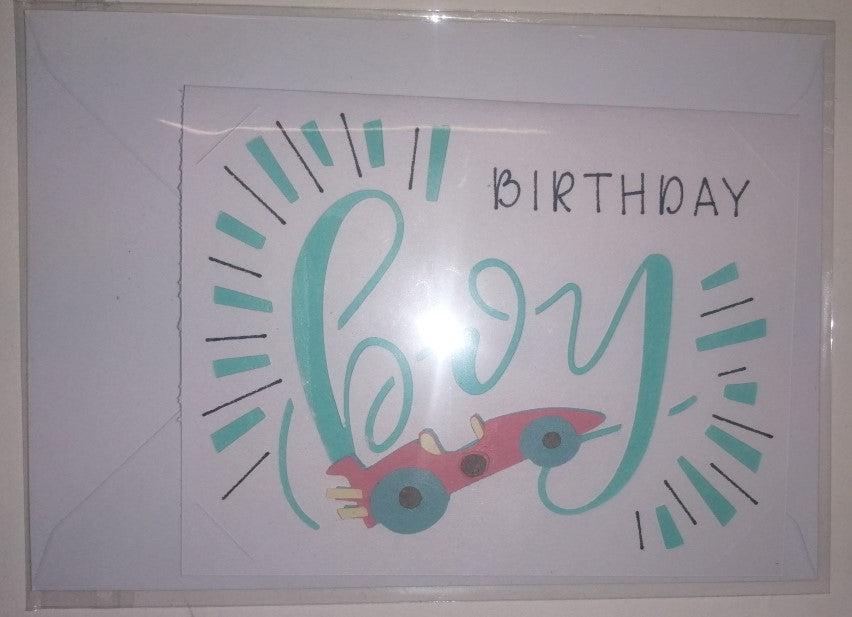Hand Crafted Birthday Cards - Boys