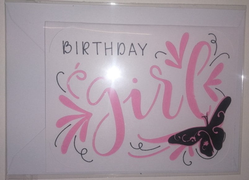 Hand Crafted Greetings Cards - Girls Birthday