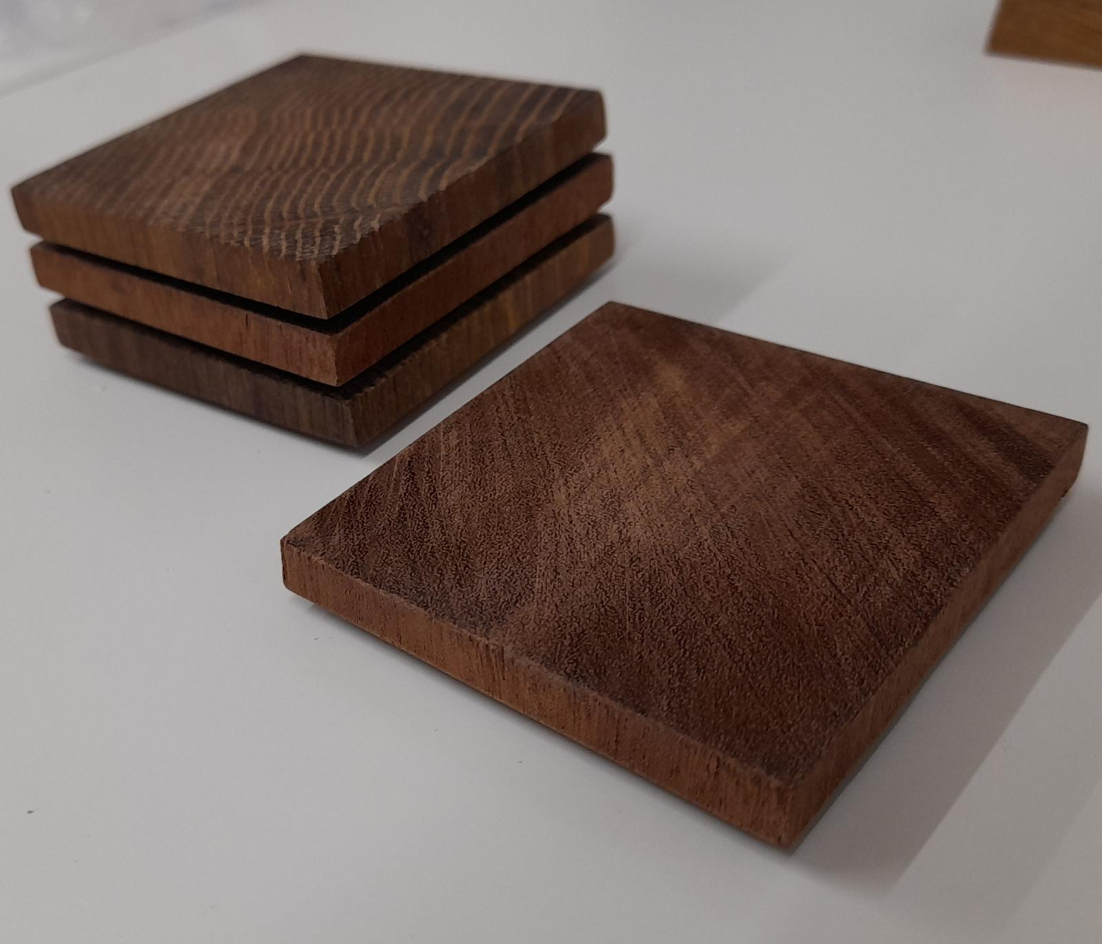 Mini Hardwood Coaster 4Pk