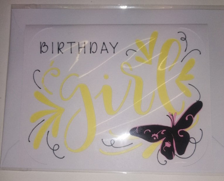 Handcrafted Greetings Cards - Girls Birthday