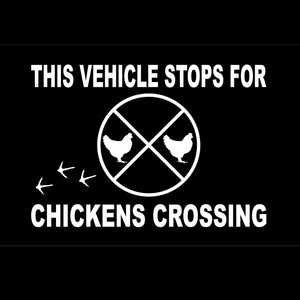 Chickens Crossing - Vinyl Window Decal