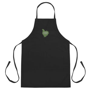 Team Chicken Chick Embroidered Apron - Green Logo