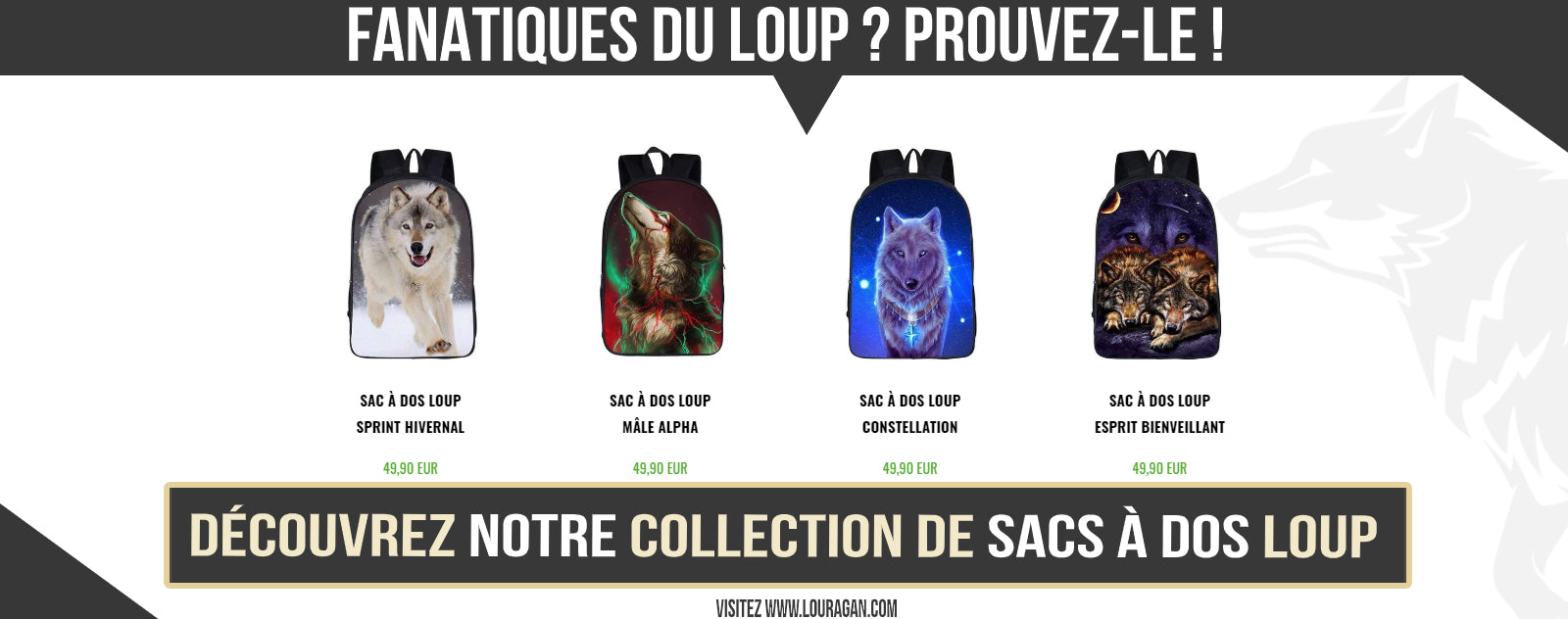 collection sac à dos loup