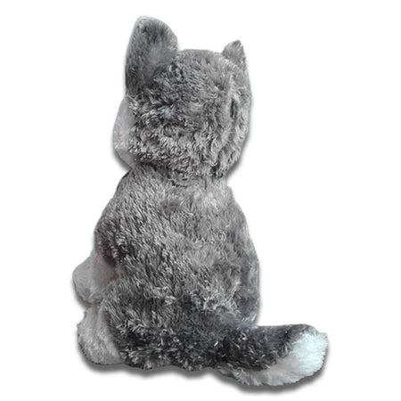 peluche loup gris taille moyenne