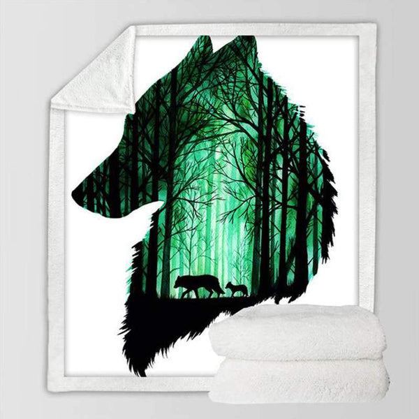 plaid loup amazon