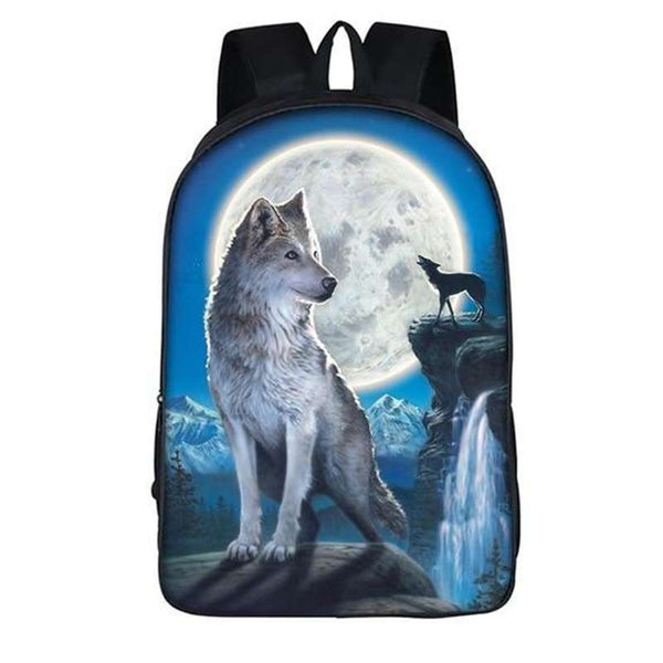 sac dos loup geant