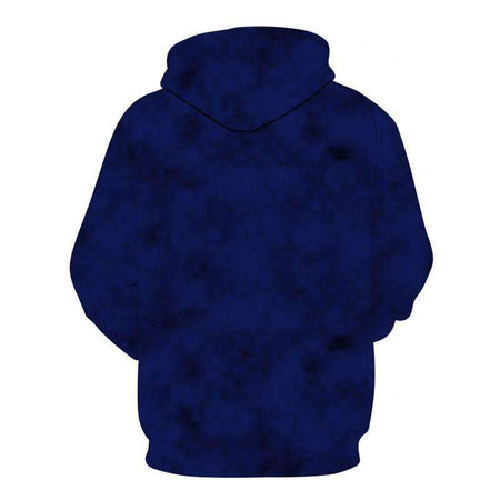 sweat loup bleu dos