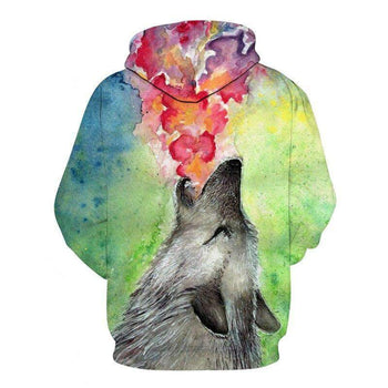 sweat loup colore dos