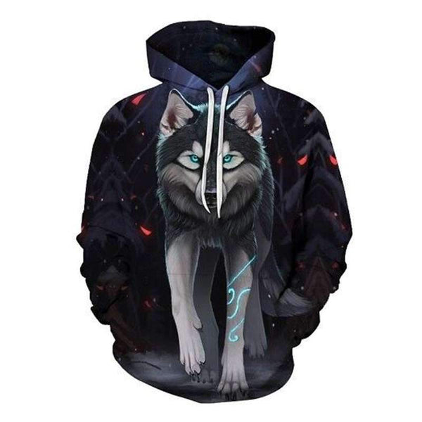 sweat loup gris